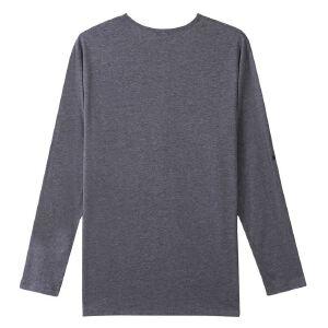 【限时抢购到手价:52元】AMAPO潮牌大码男装2017秋装胖子加肥加大宽松纯色袖袢长袖T恤新款