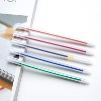 韩国文具用品 简约透明磨砂水彩笔中性笔 0.5mm水笔 黑笔