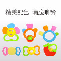 婴幼儿玩具 牙胶手摇铃响铃玩具宝宝儿童早教益智礼盒装生日礼物