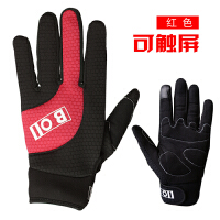 冬季骑行手套全指自行车男女触屏加绒情侣保暖手套山地车运动手套