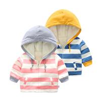 婴儿衣服冬季女童6外套3个月男宝宝连帽保暖秋冬装