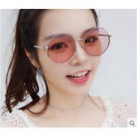 新品太阳镜女简洁糖果色装饰眼镜潮 韩版男时尚圆形大框墨镜户外太阳镜