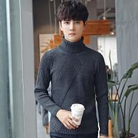 秋冬季高领毛衣男士韩版修身型黑色打底衫针织衫毛衫套头线衣潮流
