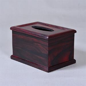 大叶紫檀纸巾盒 18 12.5 11.5