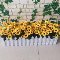 向日葵栅栏套装仿真花草假花绢花室内外家居装饰花艺桌面隔断遮挡