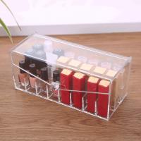 口红盒梯形透明36格 化妆品架口红唇膏架 翻盖化妆品唇釉收纳盒