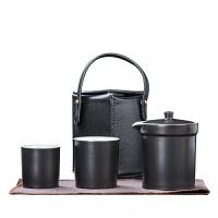 唐丰陶瓷快客杯一壶两杯二人家用户外便携式小包旅行茶具套装