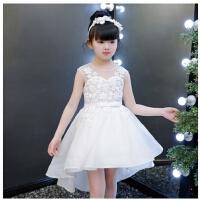 儿童礼服公主裙女童蓬蓬纱拖尾长裙