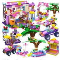 积高拼装积木城堡系列儿童玩具梦幻女孩公主粉益智拼插3-6-10周岁