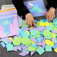 七巧板智力拼图创意拼装积木头男女孩早教3-4-5-6-7-8岁儿童玩具