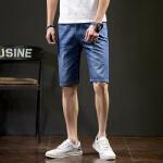 【秒杀价45元】唐狮夏新款牛仔裤男款青年韩版时尚直筒高腰牛仔中短裤Z