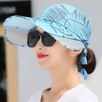 韩版伸缩遮阳帽休闲防晒帽紫外线大沿帽户外骑车太阳帽