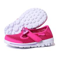 Skechers斯凯奇2018夏季女小童学步鞋蝴蝶结透气网布鞋664050N/HPLV