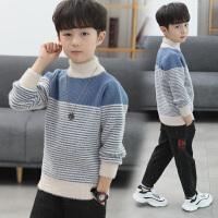男童加厚毛衣套头秋冬款针织打底衫高领大儿童加绒潮韩版洋气