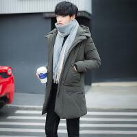 冬季新款男士修身外套中长款羽绒服韩版加厚冬装羽绒衣潮大衣