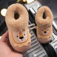 儿童棉拖鞋 秋冬季可爱防滑男童女童包跟家居家1-3岁室内小孩宝宝