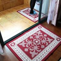 大达客厅玄关入户门口 厨房门垫吸水脚垫地毯 复古暗红