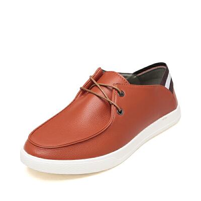 SHOEBOX/鞋柜休闲男鞋低帮商务皮鞋简约百搭平底鞋