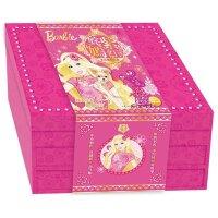 正版 (献给女孩的2017年贺岁大礼)姹紫嫣红芭比新年礼盒 芭比公主童话故事涂色书新年红包对联等11款新意的产品 儿童