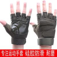 硅胶防滑半指手套男 户外运动特种兵战术手套 健身登山防滑骑行露指手套