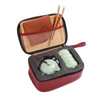 旅行茶具套装便携包家用功夫陶瓷茶壶快客一壶二两杯