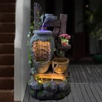 入户花园景观阳台庭院装饰品室外喷泉流水水景摆设风水轮摆件工艺礼品 喷泉+雾化器+灯光