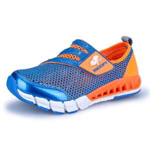 史努比童鞋夏季新品男童透气单网儿童运动鞋