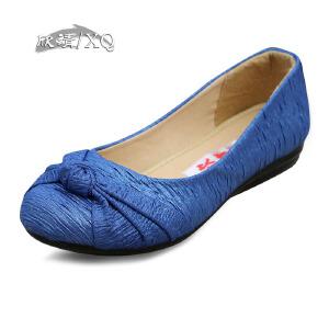 欣清老北京布鞋女单鞋春秋女平底时尚休闲平跟低帮鞋货到付款