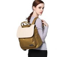 V-Coool妈咪包 韩版百变气质多功能大容量双肩妈咪包 双肩背包旅行包 咖啡金