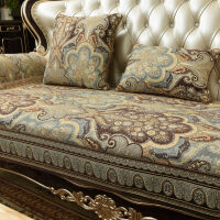 欧式皮沙发垫四季通用布艺防滑美式坐垫123组合套罩定做