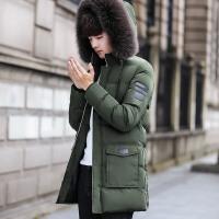 好衣服棉衣男士中长款冬季外套2017冬装新款连帽加厚潮流棉袄