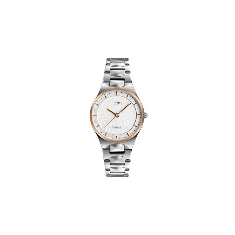 女士钢带防水石英手表简约个性时尚指针腕表商务时装表女表 品质保证 售后无忧 支持货到付款