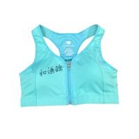 专业拉链运动文胸女高强度胸衣背心式内衣健身bra