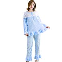 慈颜秋冬季产后哺乳珊瑚绒孕妇睡衣产妇加绒加厚月子服套装FJC703A