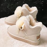 毛毛鞋雪地靴女鞋秋冬季百搭学生一脚蹬冬鞋棉鞋