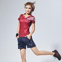 中国风羽毛球服 套装T恤 男女款运动服训练透气网球服