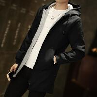 男士外套冬季新款风衣中长款韩版修身帅气加绒加厚个性潮男装