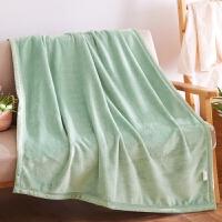 小毛毯被子冬季珊瑚绒加厚便携办公室午睡沙发毯子单人盖腿空调毯