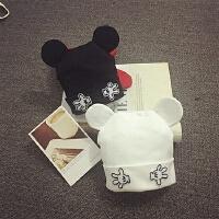 婴儿帽子秋冬0-3-6-个月套头帽胎帽男女儿童针织帽保暖宝宝帽子