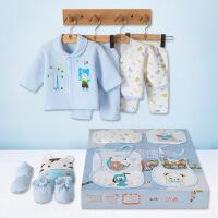 班杰威尔 秋冬加厚保暖新生儿礼盒纯棉婴儿内衣18件套初生满月宝宝衣服套装 加厚彩色世界