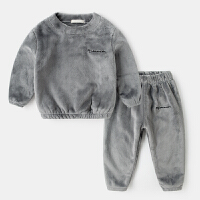 儿童睡衣春秋法兰绒宝宝女男童珊瑚绒家居服套装冬装