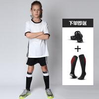 新款儿童足球服男童运动训练服套装小学生大童女夏季球衣短袖队服定制