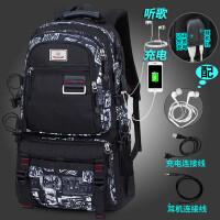 双肩包男士商务电脑包旅行大容量瑞士背包休闲潮学生书包