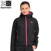 户外透气防水保暖 女士两层冲锋衣冲锋衣 KZBAF321 黑色 S