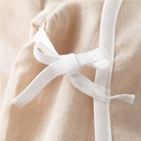 初生儿和尚服夏季0-3个月婴儿空调服薄款纱布内衣套装