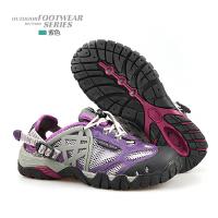 夏季溯溪鞋男鞋特大码户外登山徒步鞋女网面透气速干涉水鞋钓鱼鞋 紫色 058