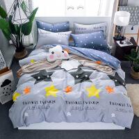 【支持礼品卡】北欧简约纯棉四件套1.5m/1.8米床上用品单人双人全棉床单套件 g4d