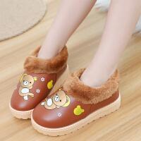 儿童防水雪地短靴冬季男女童靴子加绒保暖时尚棉鞋防滑