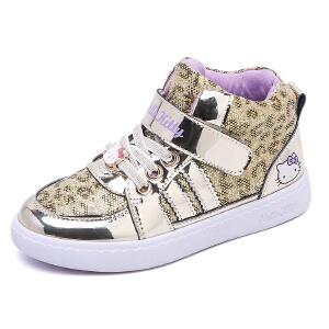 HELLO KITTY童鞋女童运动鞋春季新款儿童休闲鞋板鞋女童潮鞋