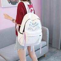 日韩版情侣双肩包女校园中学生书包学院风时尚高中生休闲旅行背包